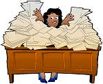 Desk Piled with files